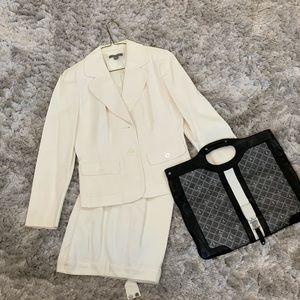Ann Taylor White Suit
